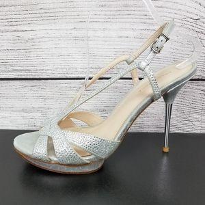 Pelle Moda Embellished Platform High Heel Pumps …